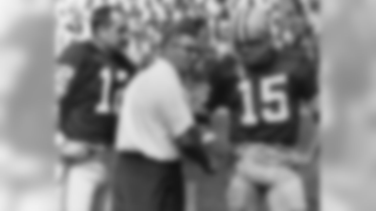 Former Packers Head Coach Vince Lombardi and QB Bart Starr
