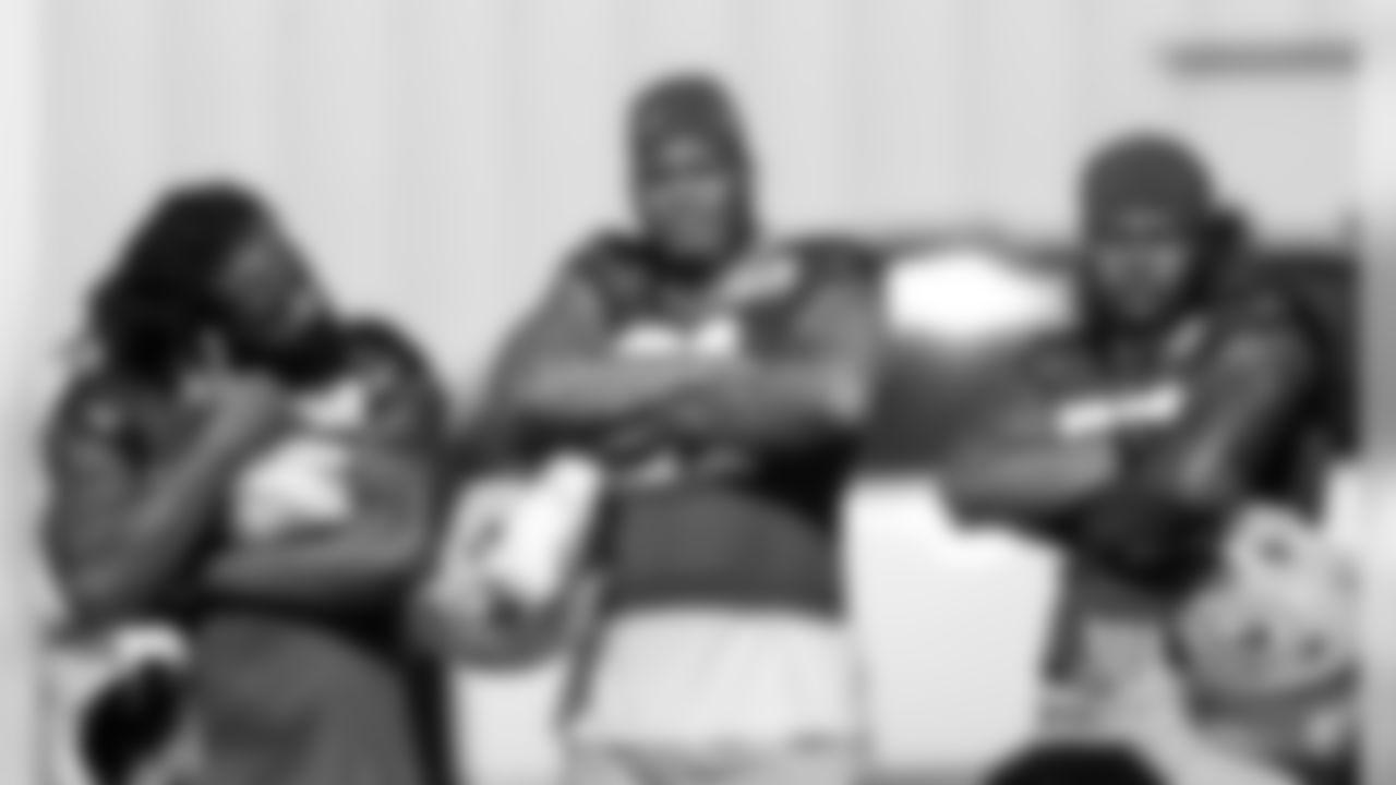 LBs Za'Darius Smith, Preston Smith & Rashan Gary