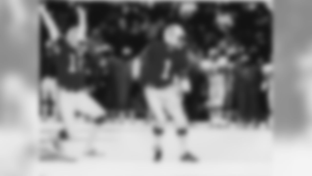 Schaefer Stadium's snowplow operator, Mark Henderson, cleared a spot on the snowy field for Patriots kicker John Smith, who hit a 33-yard field goal late in the fourth quarter to give New England a 3-0 win over Miami on Dec. 12 1982.