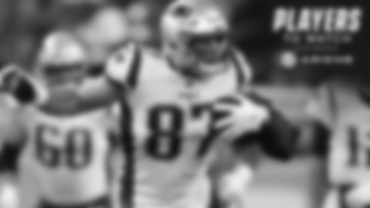 """Rob Gronkowski, TE – The Western New York native has always loved playing against the team he grew up rooting for and has put up huge numbers against the Bills over the years. Reports indicated this week that Gronkowski has """"a shot"""" to play Monday night in Buffalo after missing the Bears game. That's good news for New England and a Halloween week nightmare for Buffalo defenders."""