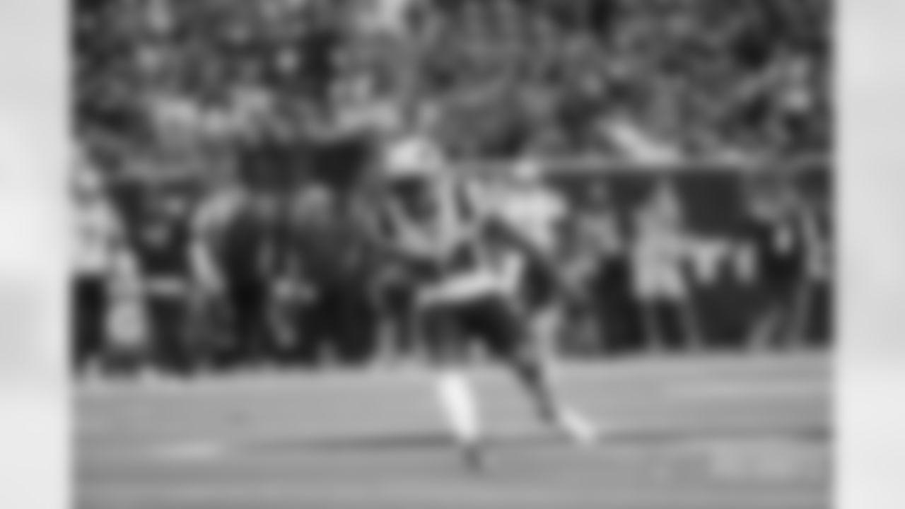 WR Kendrick Bourne (84) cuts up the field.