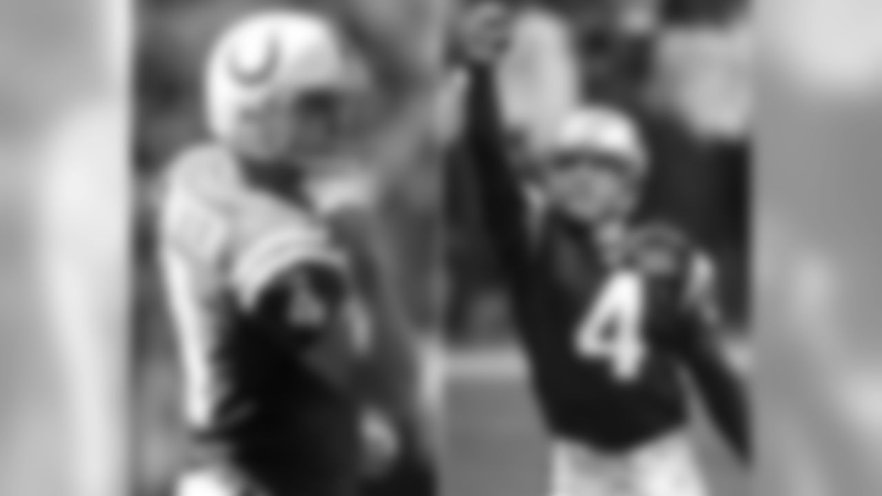Colts K Adam Vinatieri was the kicker for the Patriots from 1996-2005. Vinatieri won Super Bowls with the Patriots in 2001, 2003 and 2004. In New England, he is remembered for his 48-yard game-winning kick that gave the Patriots their first championship in Super Bowl XXXVI.