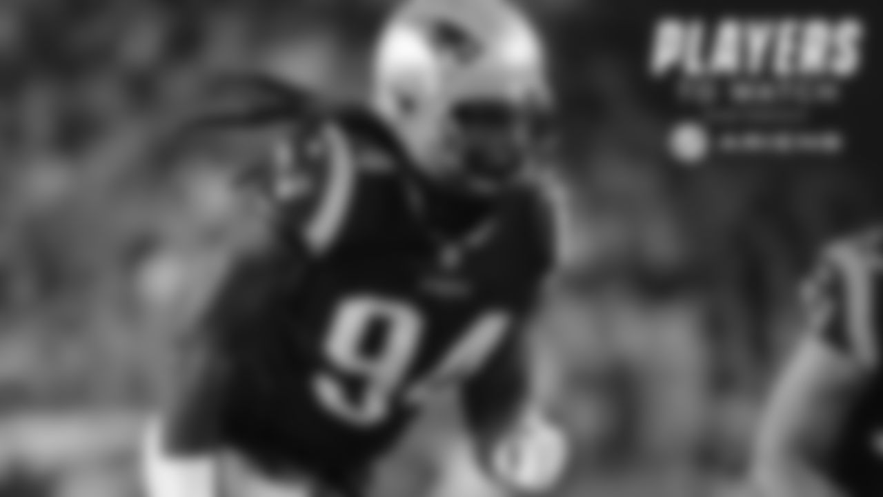 Adrian Clayborn, DE - One of New England's biggest offseason additions, Clayborn has gotten off to a nice start and has made an impact in summer action. He will get another chance to keep the playmaking momentum rolling with a new challenge against Cam Newton and all the quarterback brings to the field.