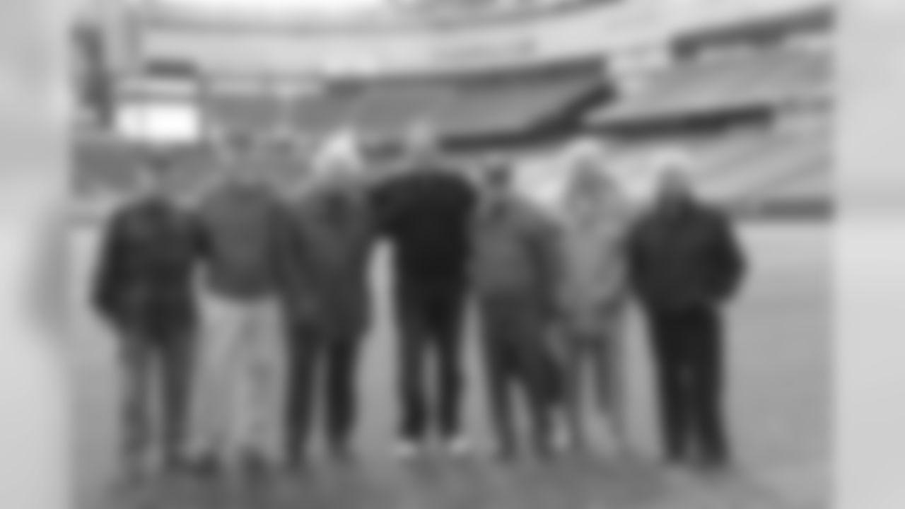 Bill Belichick visits with World War II veterans on Wednesday