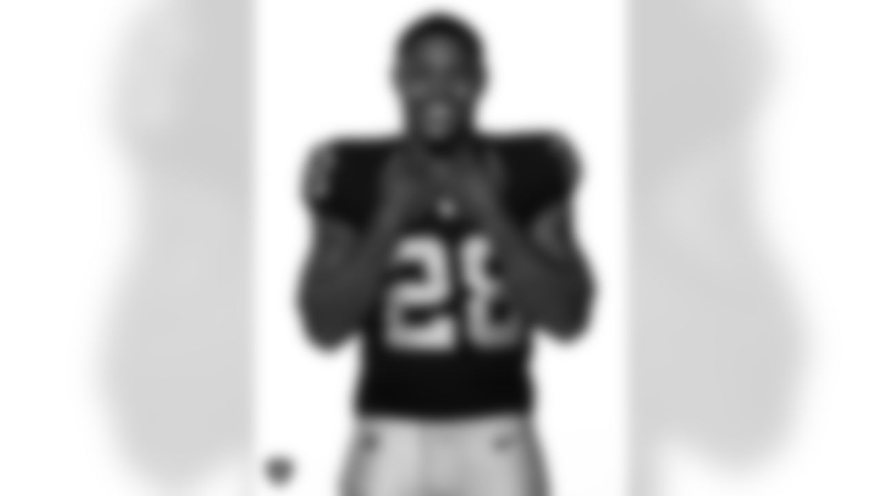 Las Vegas Raiders running back Josh Jacobs poses for a photo at the 2020 Las Vegas Raiders Media Day.
