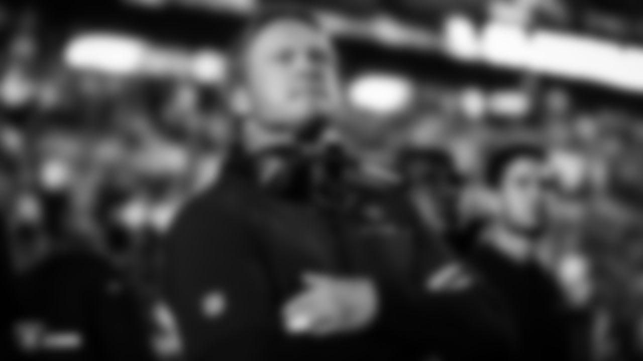 Raiders Head Coach Jon Gruden on the sidelines before the regular season game against the Indianapolis Colts.