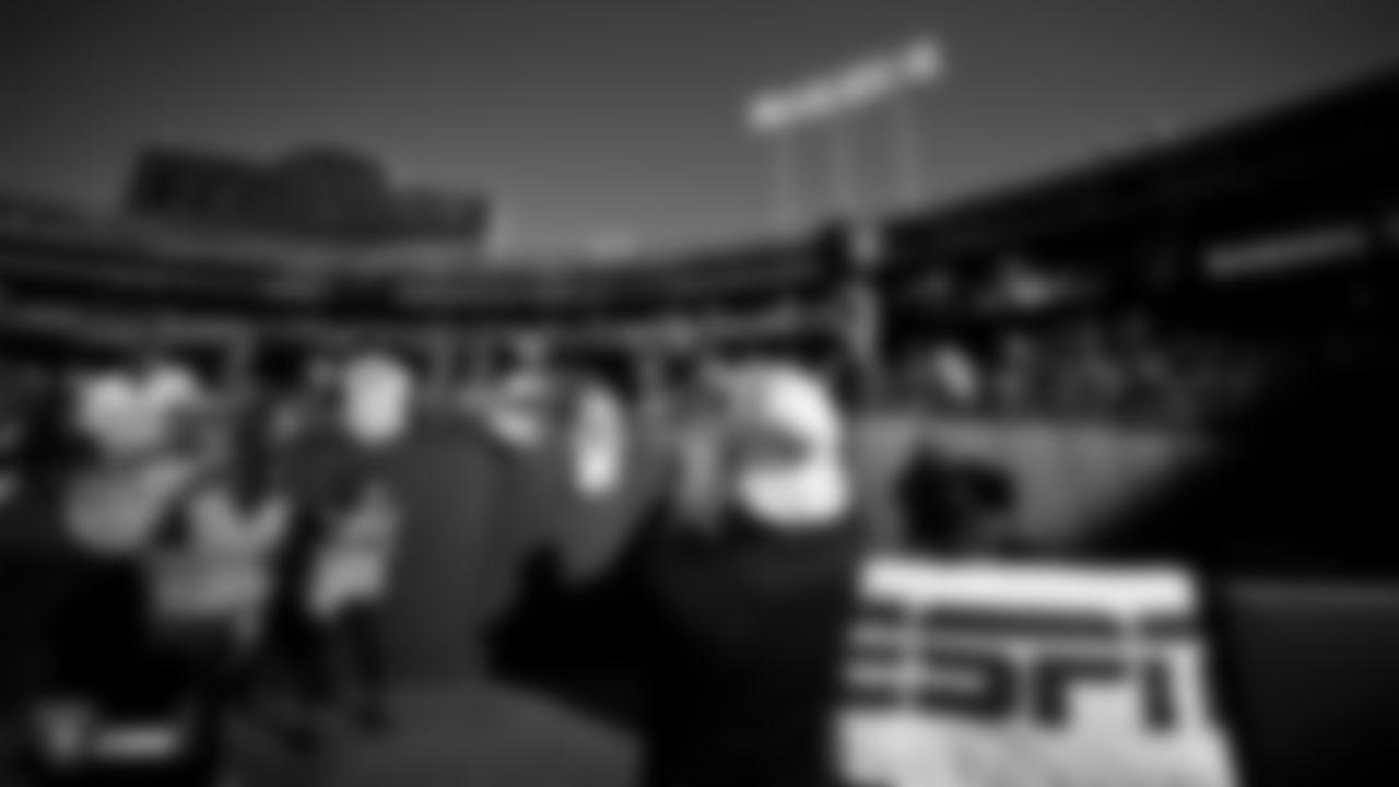 Raiders safety Erik Harris (25) before the regular season game against the Denver Broncos at Oakland-Alameda County Coliseum.