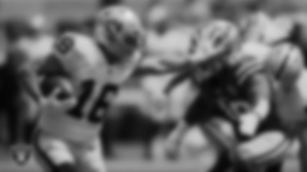 Las Vegas Raiders wide receiver Dillon Stoner (16) during the preseason game against the San Francisco 49ers at Levi's Stadium.