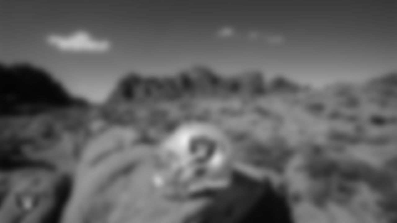 A Las Vegas Raiders helmet at Valley of Fire State Park.