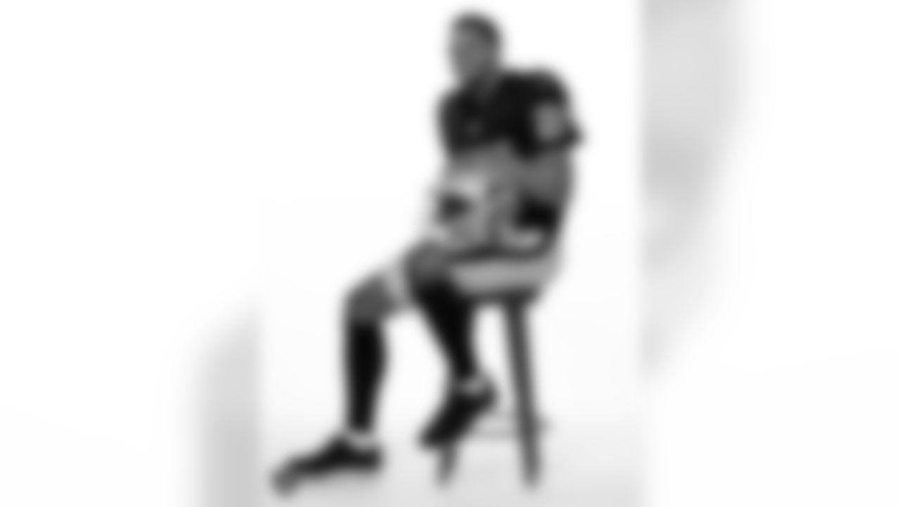 Las Vegas Raiders safety Johnathan Abram poses for a photo at the 2020 Las Vegas Raiders Media Day.