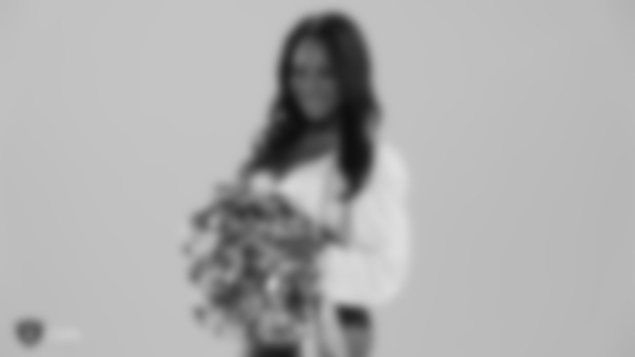 Raiderette Vanecia during their media day shoots.