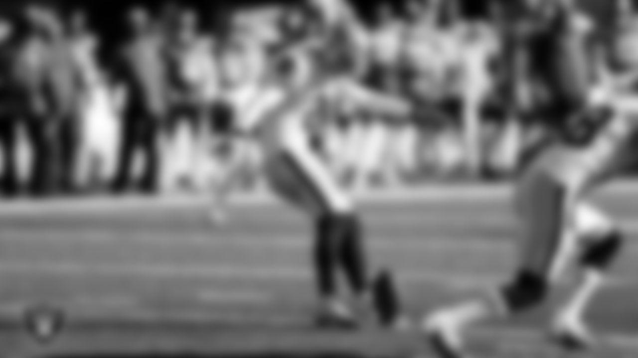 Las Vegas Raiders kicker Daniel Carlson (2) during the regular season game against the New York Jets at MetLife Stadium.