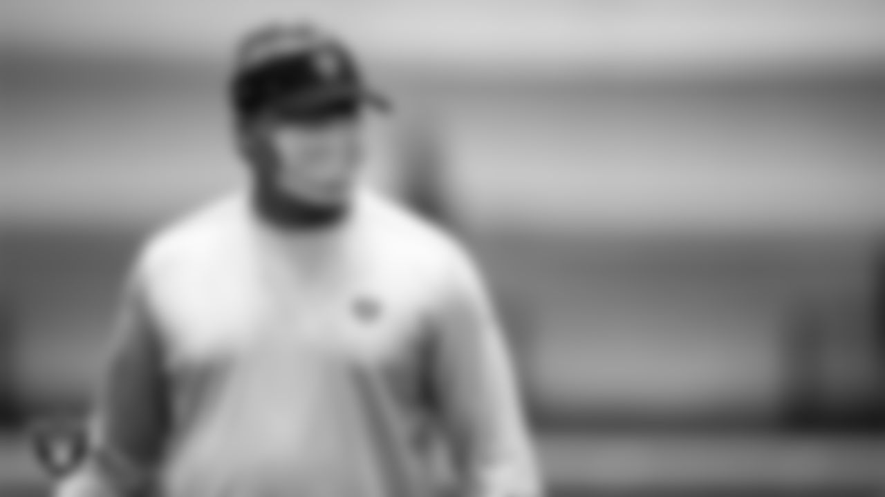 Las Vegas Raiders Head Coach Jon Gruden on the field for a walk through at 2020 Training Camp.
