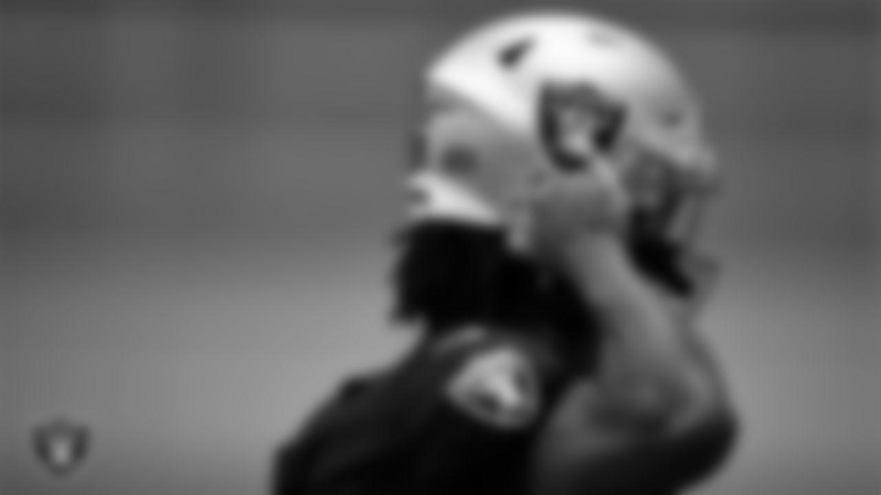 Las Vegas Raiders wide receiver DJ Turner (19) during practice at Intermountain Healthcare Performance Center.