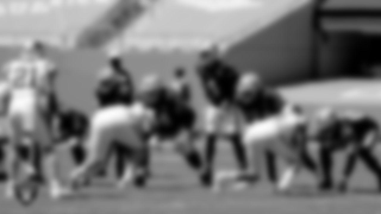 Las Vegas Raiders quarterback Derek Carr (4) during the regular season game against the Carolina Panthers at Bank of America Stadium.