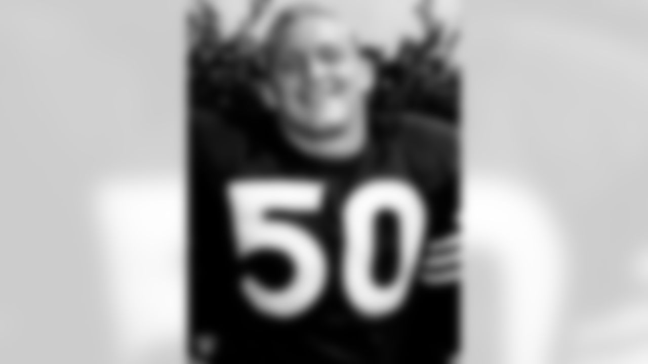 Jim Otto played for the Raiders from 1960-1974, starting 210 consecutive games at one point. During his time with the Silver and Black, Otto participated in nine AFL All-Star Games and the first three AFC-NFC Pro Bowls. He was inducted into the Hall of Fame in 1980, his first year of eligibility.