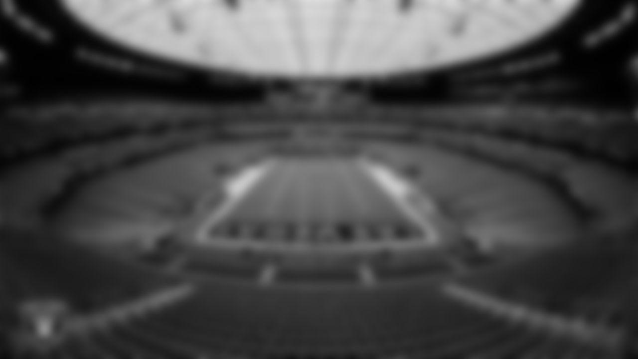 A view of Allegiant Stadium before the Las Vegas Raiders' regular season home game against the Baltimore Ravens.