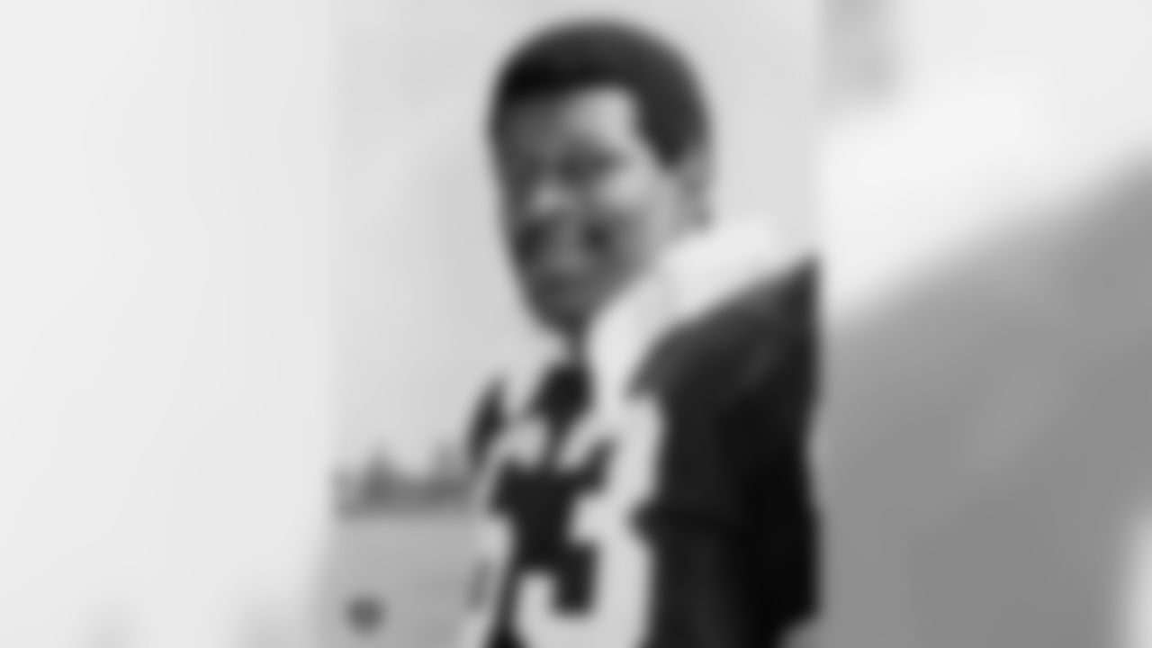 Gene Upshaw was selected by the Raiders in the 1st round of the 1967 NFL Draft out of Texas A&I. He was inducted into the Pro Football Hall of Fame in 1987 after playing in 217 regular-season games with 207 starts, 24 playoff games and three Super Bowls (II, XI, XV). Upshaw was named to seven All-Star Games/Pro Bowls and named 1st Team All-Pro five times.