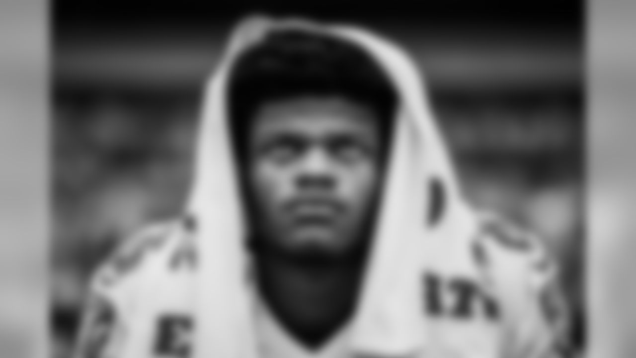 Quarterback Lamar Jackson on the sideline before the game against the Pittsburgh Steelers on October 6, 2019.