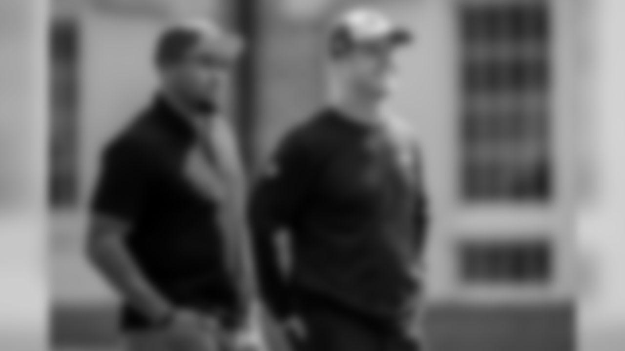 Head Coach John Harbaugh and Former Ravens WR Steve Smith