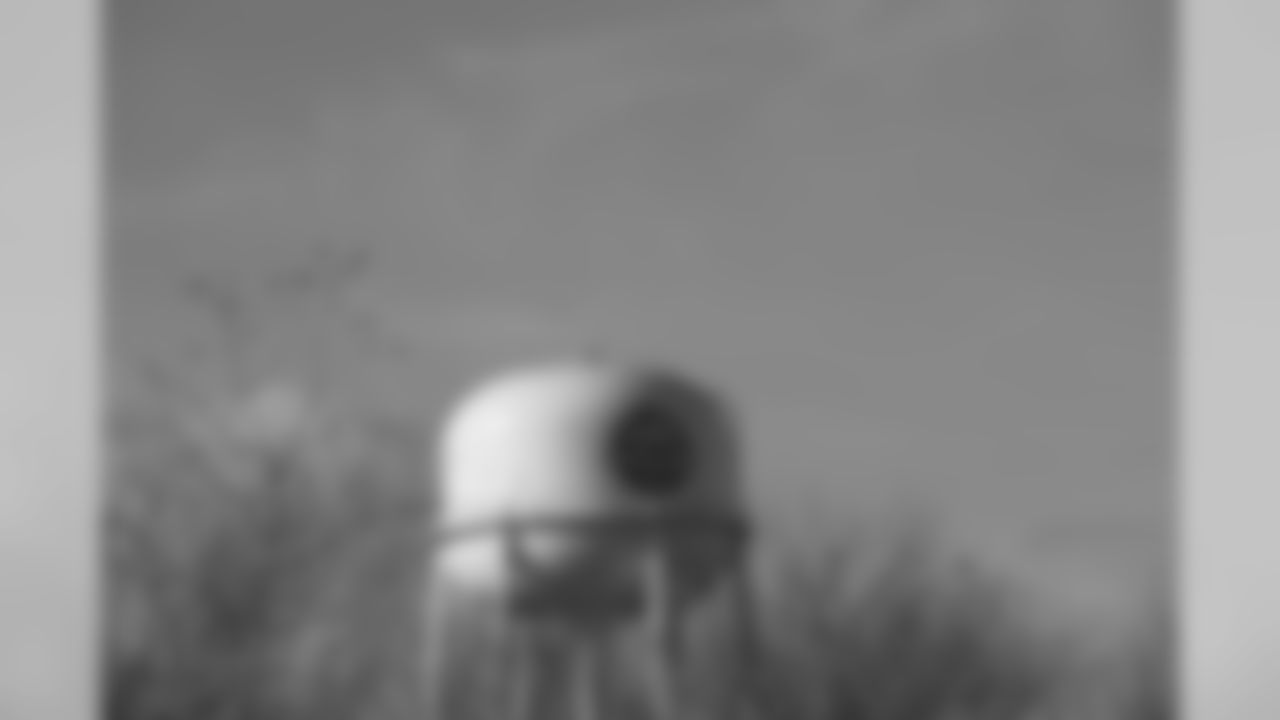 A general view of the Pearland water tower is seen in the hometown of New Orleans Saints punter Thomas Morstead in Pearland, Texas.