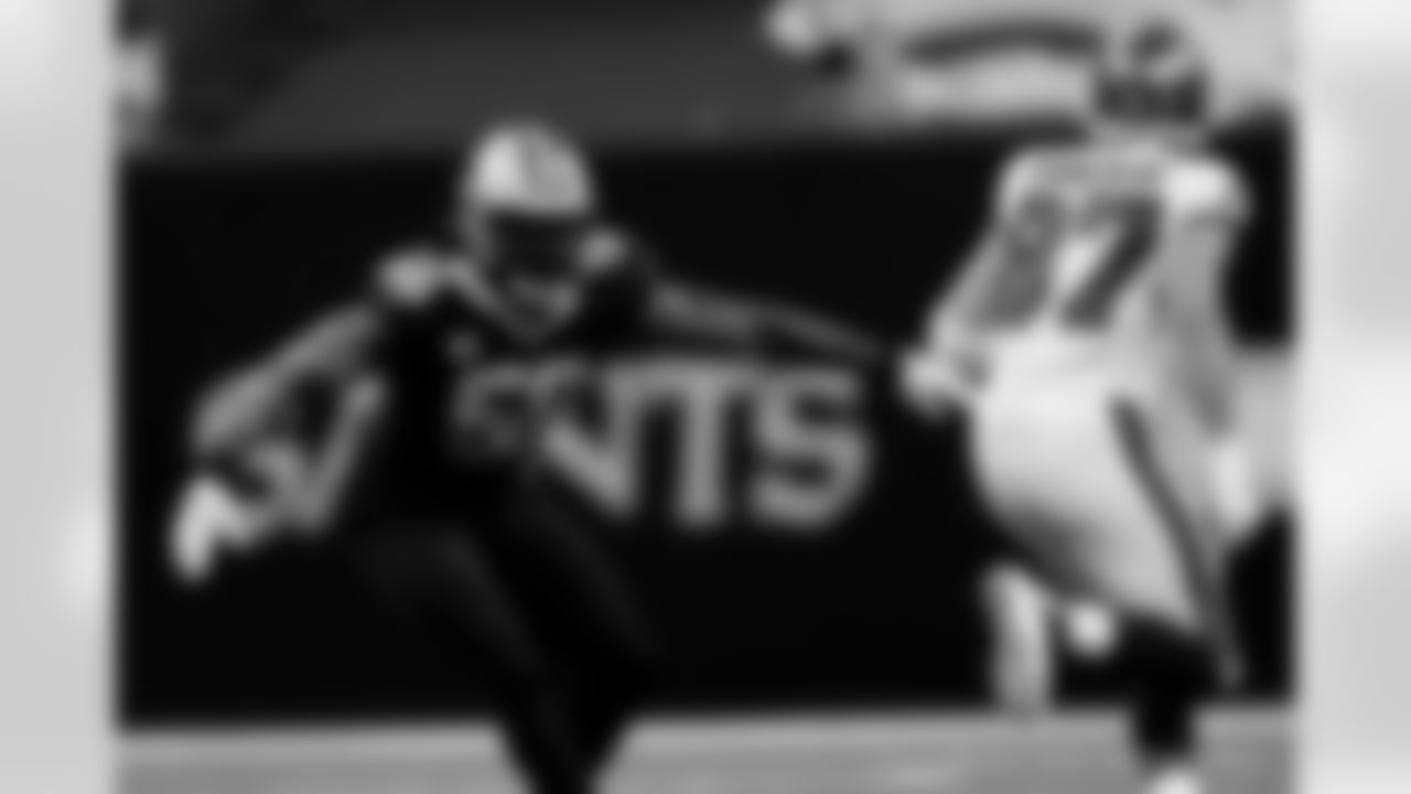 Game action photos from the New Orleans Saints playing host to the Tampa Bay Buccaneers in Week 1 of the 2020 NFL season.