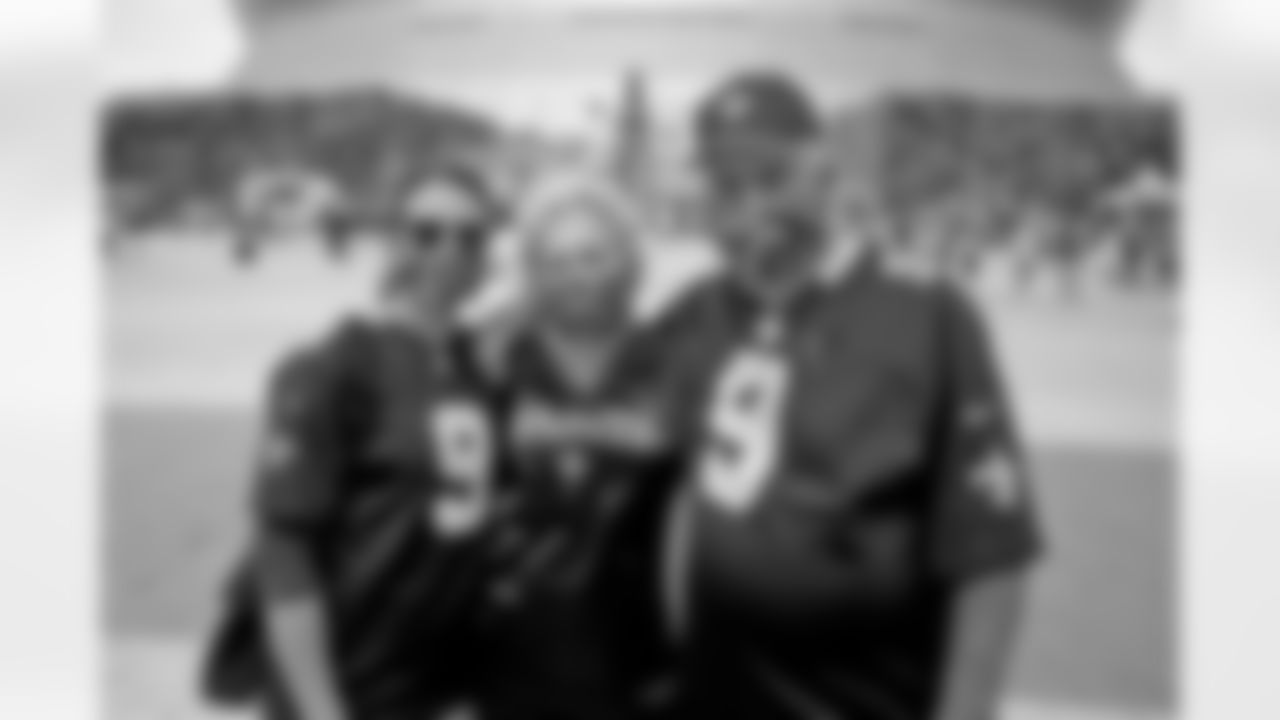 Saints fans get ready at Champions Square as the New Orleans Saints return home to take on the New York Giants in Week 4 on October 3, 2021.