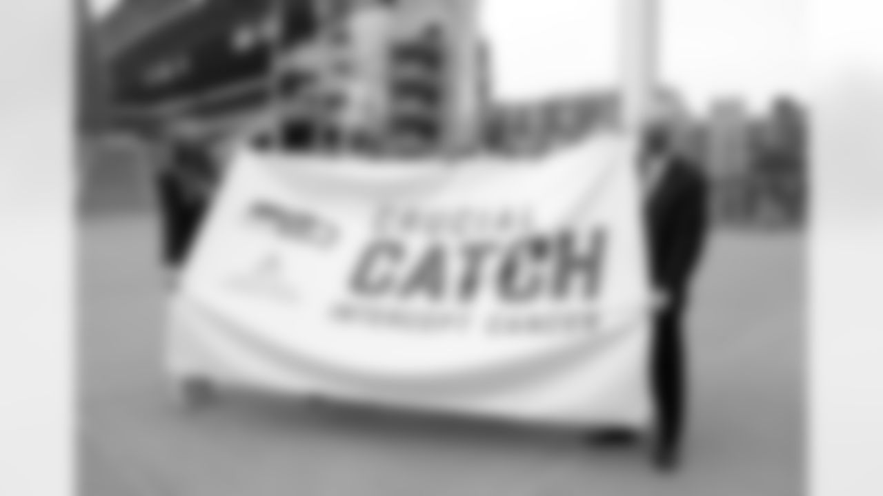 Representatives from the Seahawks and Virginia Mason Franciscan Health participated in a ceremonial raising of the Crucial Catch flag at Lumen Field to help kick off the 2021 Crucial Catch campaign.
