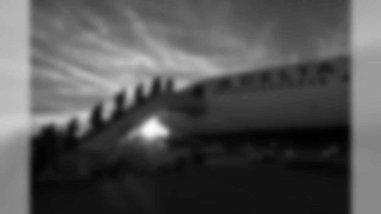 The Seahawks departed Seattle upon their Delta charter flight amid a cold, but glorious setting sun as they headed across the country for the road game against the Jacksonville Jaguars.