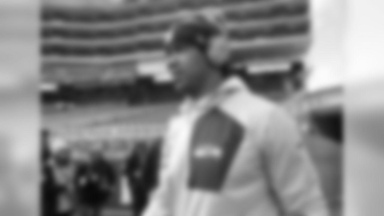 Seattle Seahawks quarterback Russell Wilson before an NFL football game against the San Francisco 49ers in Santa Clara, Calif., Sunday, Jan. 1, 2017. (AP Photo/Tony Avelar)