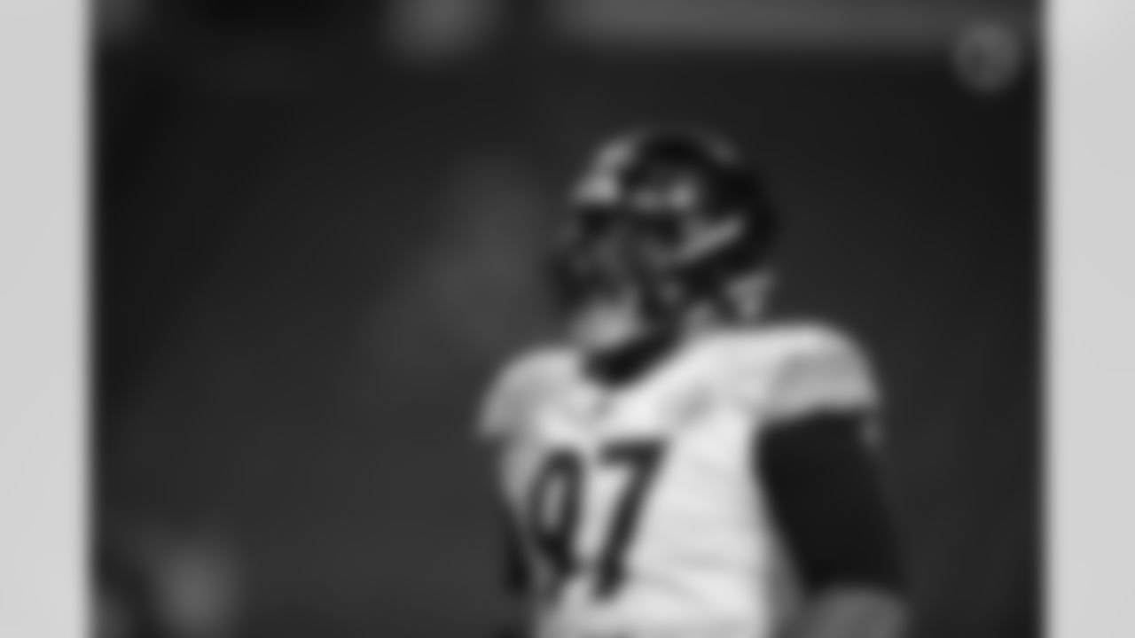 Pittsburgh Steelers defensive tackle Cameron Heyward (97) during a regular season game between the Pittsburgh Steelers and the Buffalo Bills, Sunday, Dec. 13, 2020 in Buffalo, NY. The Bills defeated the Steelers 26-15. (Karl Roser / Pittsburgh Steelers)