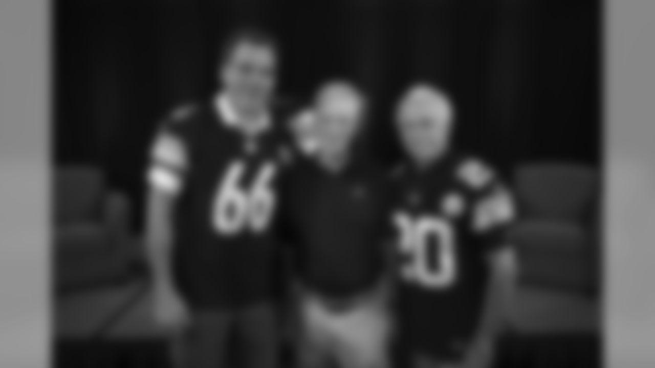 Alan Faneca, Art Rooney II, and Rocky Bleier