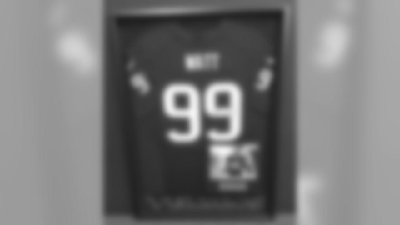 2012 Defensive Player of the Year J.J. Watt Autographed & Custom Framed Nike Elite Jersey!