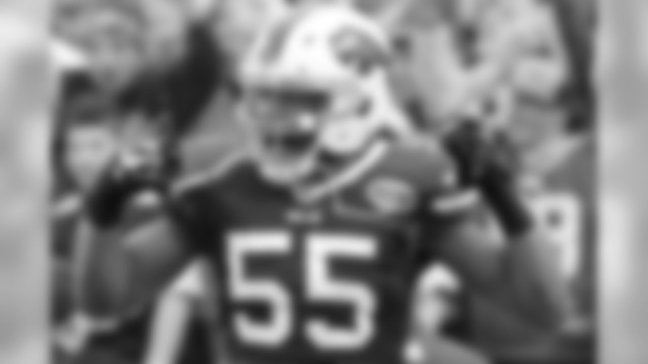Week 13 (Away) - The former TCU star burst on the scene when he arrived in Buffalo, piling up ten sacks each of his first two seasons. Key Stat: Hughes has as many forced fumbles (five) in two years in Buffalo as he had sacks in three years in Indianapolis.