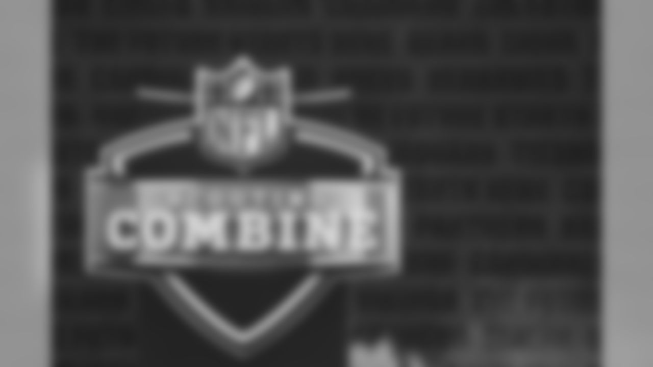 General view of Scouting Combine sign during the 2020 NFL Scouting Combine, Tuesday, Feb. 25, 2020 in Indianapolis. (Aaron Doster/NFL)