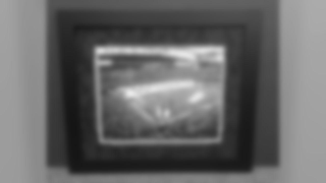 """""""GO TEXANS"""" Framed Canvas Print Photo – Autographs from Arian Foster, Matt Schaub, Andre Johnson, Owen Daniels, Johnathan Joseph, Brian Cushing & JJ Watt"""