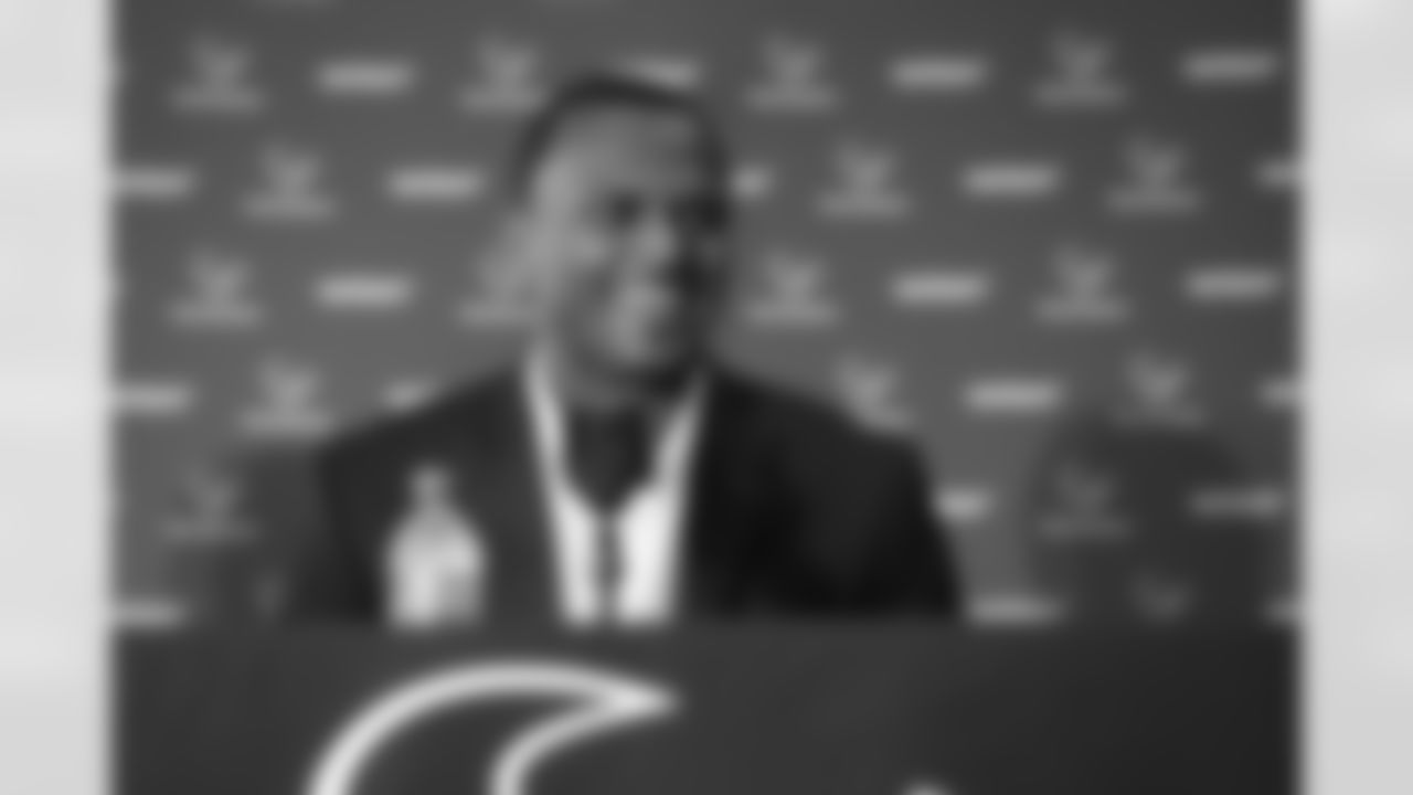 An image from the April 28, 2017 Deshaun Watson arrival press conference at NRG Stadium.