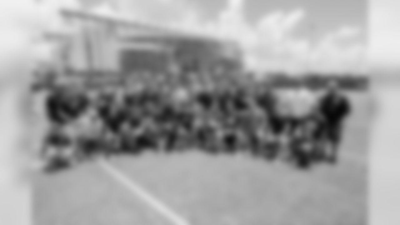 Santa Fe High School football team visit the Houston Texans after mini camp on Tuesday, June 12, 2018 at the Texans Methodist Training Center