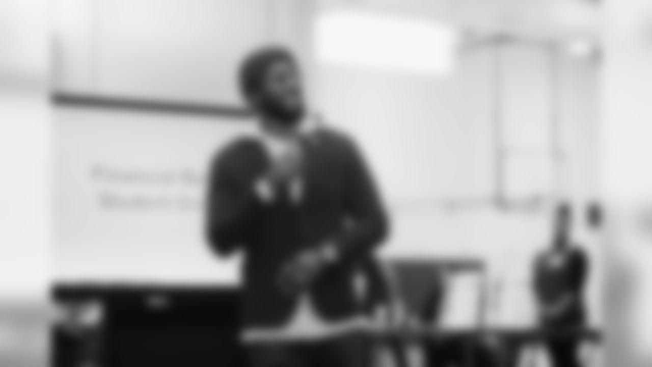 Marcus Trufant at Wilson High School_Speaking 2