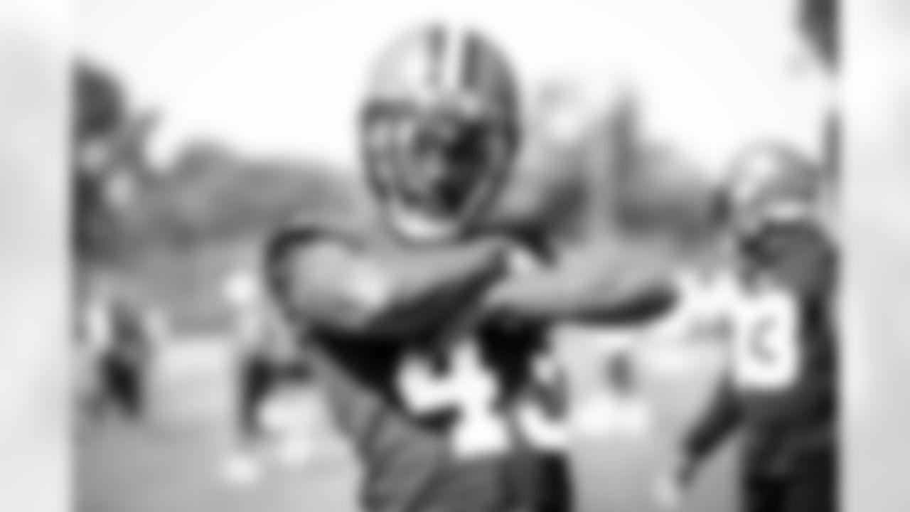 Safety John Johnson III (43) during practice on August 27, 2021.
