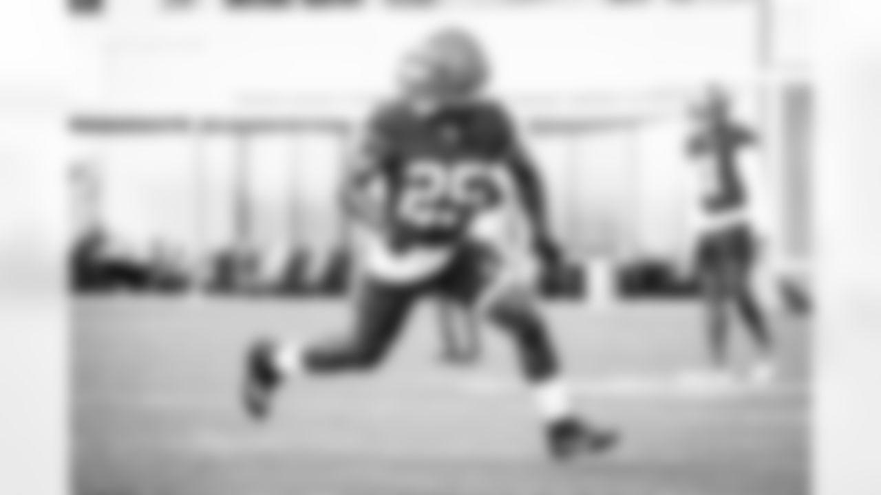 Running back Demetric Felton (25) during practice on October 13, 2021.