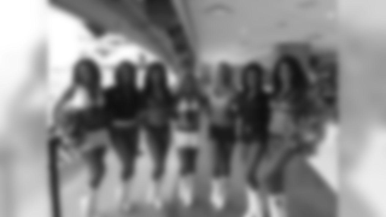 Pregame appearance! Jordan, Michaela, Me, Lauryn, Blair, Brooklyn and Mariah.