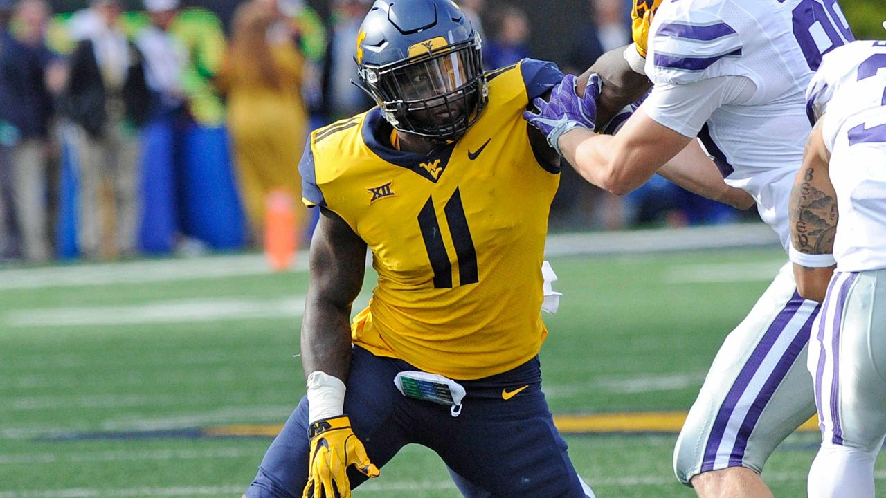 save off 9c273 63f23 2019 NFL Draft - Round 6: West Virginia LB David Long
