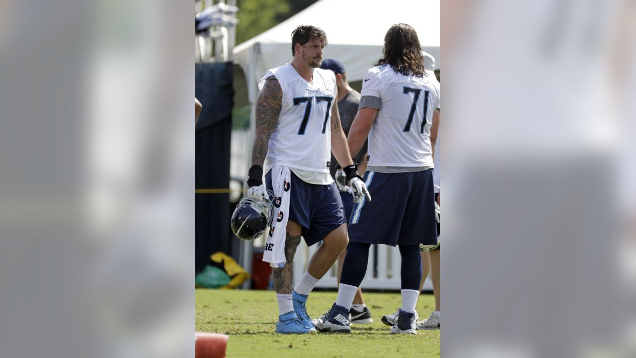 best loved 90a9c 6420f Titans Training Camp Preview: A Look at the Offensive Line