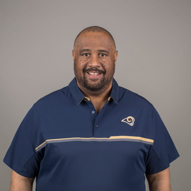 Los Angeles Rams running backs coach Skip Peete at Rams practice Facility, Wednesday, February 8, 2017, in Thousand Oaks. (Jeff Lewis/Rams)
