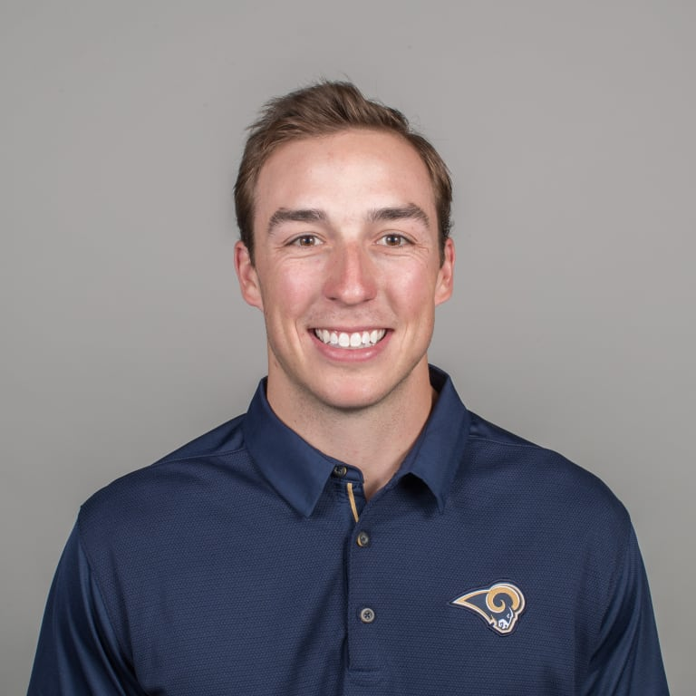 Zak Kromer of the Los Angeles Rams headshot, Thursday, April 26, 2018, in Thousand Oaks, CA. (Jeff Lewis/Rams)