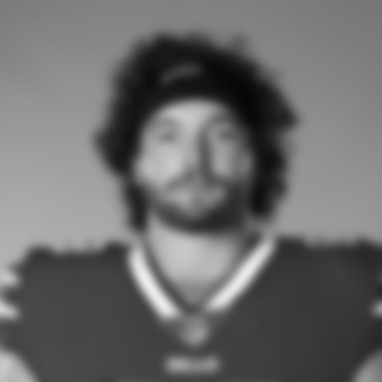 This is a 2020 photo of Dawson Knox of the Buffalo Bills NFL football team. This image reflects the Buffalo Bills active roster as of July 28, 2020 when this image was taken.  (AP Photo)