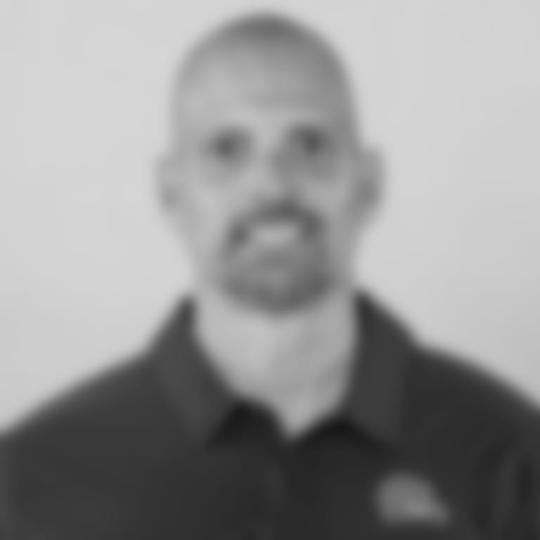 This is a 2021 photo of Chad O'Shea of the Cleveland Browns NFL football team. This image reflects the Cleveland Browns active roster as of April 14, 2021 when this image was taken.