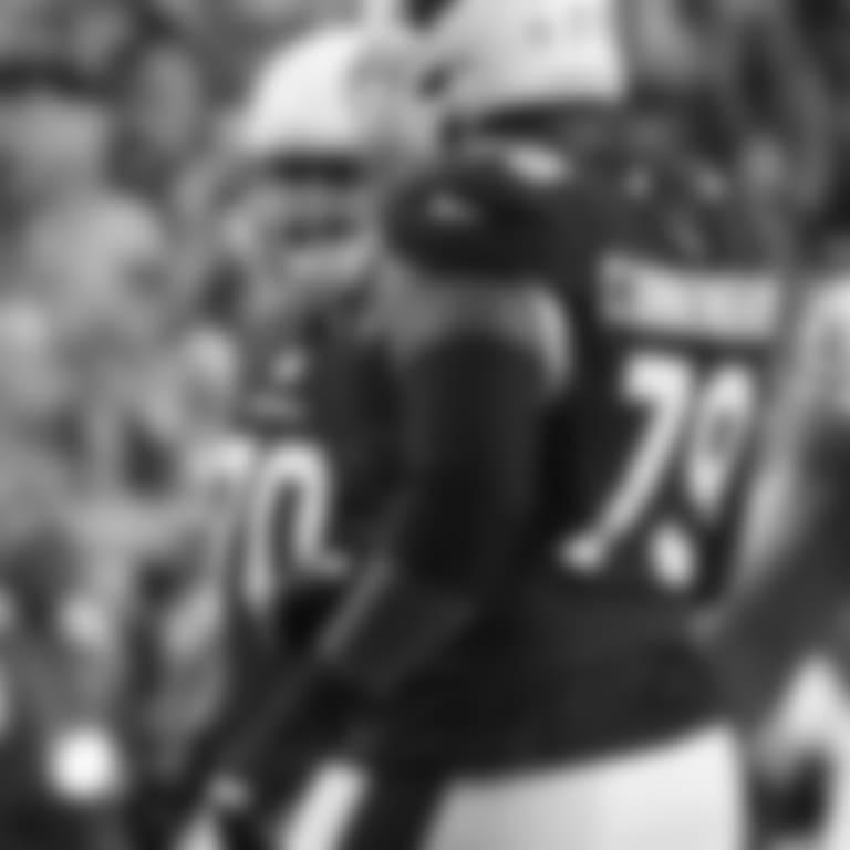Detroit Lions defensive end Romeo Okwara (95) celebrates a sack of Arizona Cardinals quarterback Josh Rosen (3) during a NFL football game against the Arizona Cardinals on Sunday, Dec. 9, 2018 in Glendale, Ariz. (Detroit Lions via AP).
