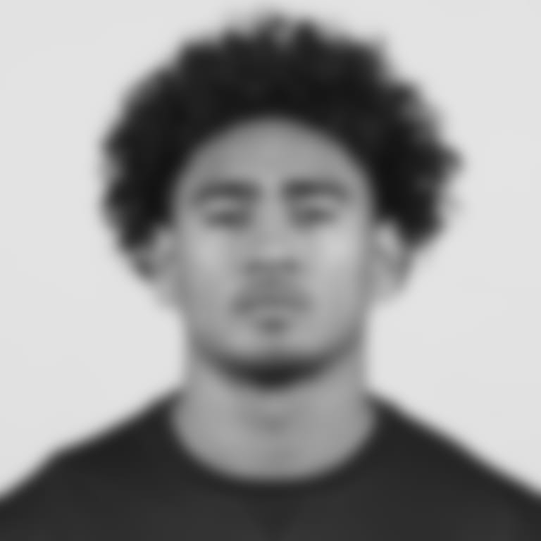 UCLA tight end Devin Asiasi poses for a headshot during the 2020 NFL Scouting Combine, Monday, Feb. 24, 2020 in Indianapolis. (Ben Liebenberg via AP)
